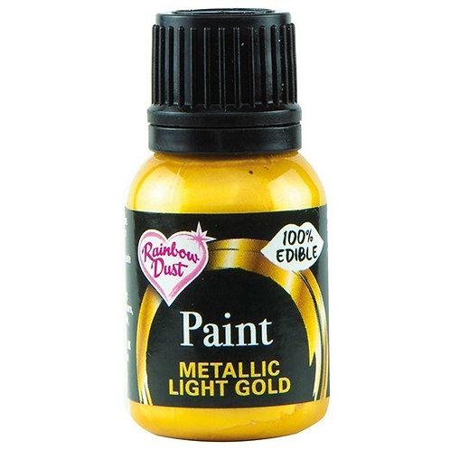Rainbow Dust Metallic Food Paint - Light Gold - 25ml