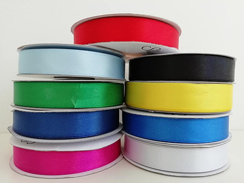 16mm Double Faced Satin Ribbon, 25 Meter Roll