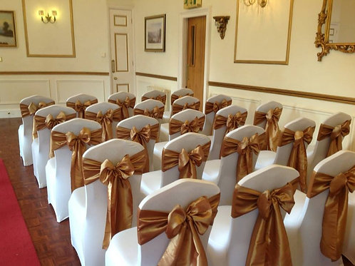 90 Chair Covers and Sash Hire - Includes Deposit