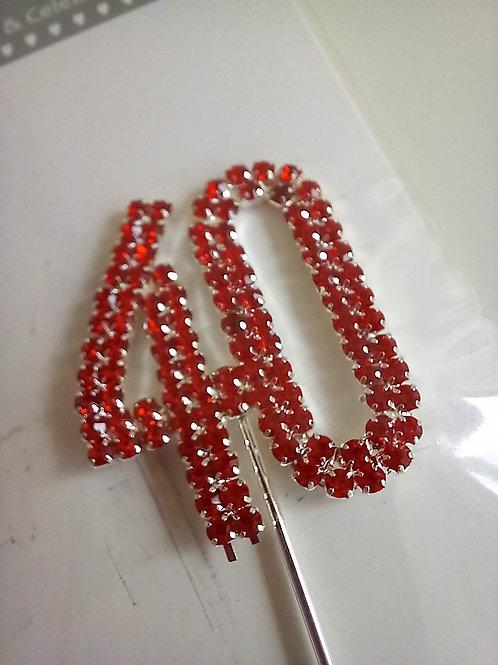 Red Diamante Number 40