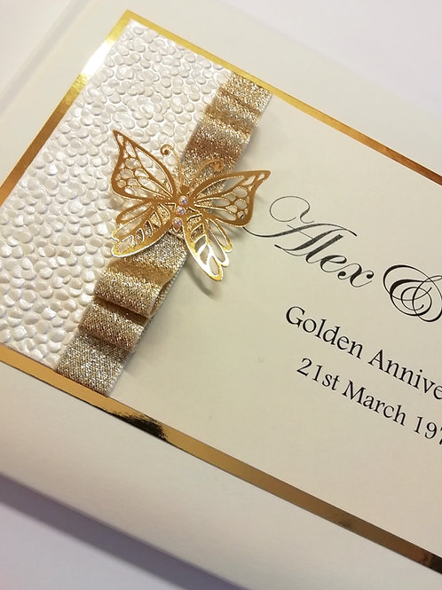 Golden Guest Book