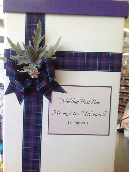 Modern Thistle Wedding Post Box