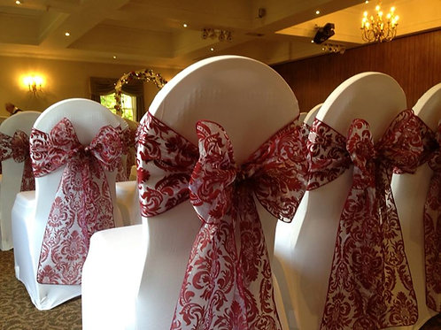 50 Chair Covers and Sash Hire - Includes Deposit