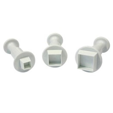 Square Plunger Cutters - Set of 3 - PME