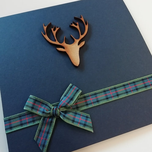 Highland Stag Wedding Invitation - Set of 5
