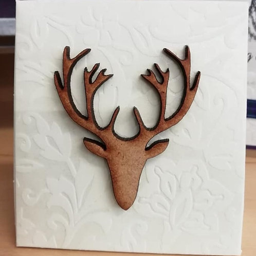 Stags Head Wedding Favour Box - Set of 20 Favours