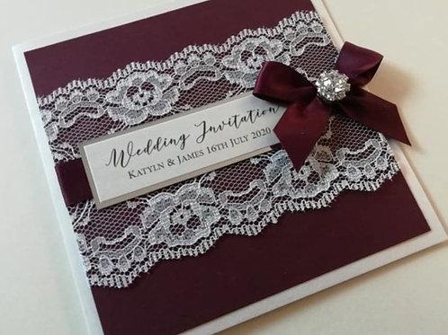 Lace Wedding Invitation - SINV06082103
