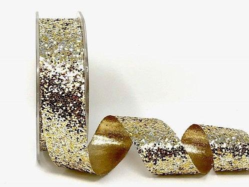 Gold 25mm Sparkle Glitter x 1M