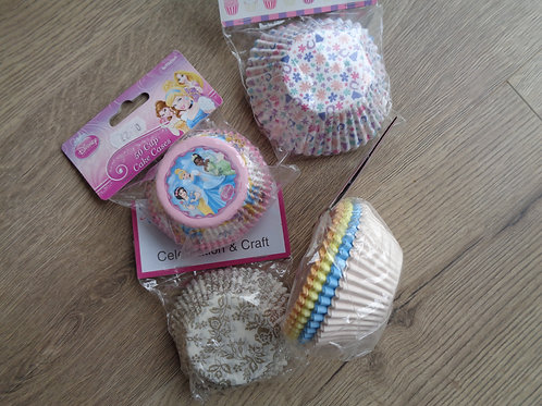 4 Packets of mixed Cupcake Cases - Discontinued.