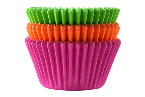 Professional Quality Baking Cases - Neon - pack of 45 cases