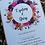 Thumbnail: Floral Wreath Wedding Invitation  - Minimum Order 20 - INV21042101