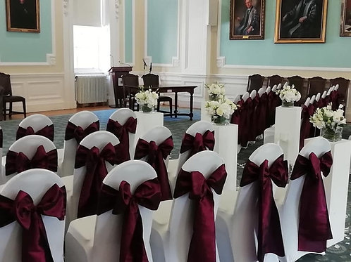 100 Chair Covers and Sash Hire - includes deposit