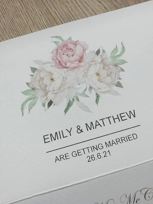 Pink and White Peony Trifold Invitation - INV2204213 - Minimum Order 20