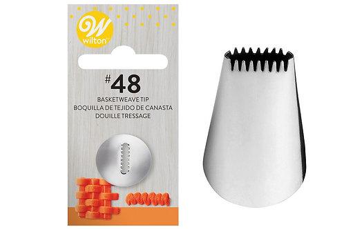 Wilton Piping Nozzle, Tube - 48 Basketweave