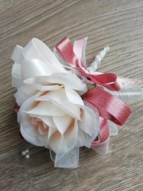Petal Pink Rose Gold Corsage / Flower Spray