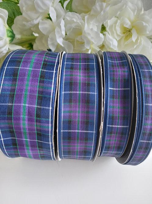 Modern Pride of Scotland Tartan Ribbon - 10mm, 16mm, 25mm, 37mm