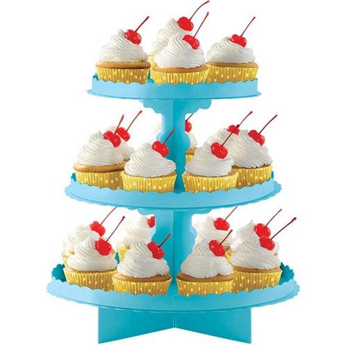 Blue / Aqua Cupcake Stand for Afternoon Tea, Cupcakes, Treats