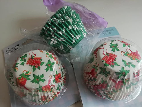 3 Packets of Christmas Cupcake Cases - Discontinued