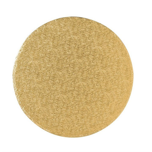 Round Gold Cake Drum Board