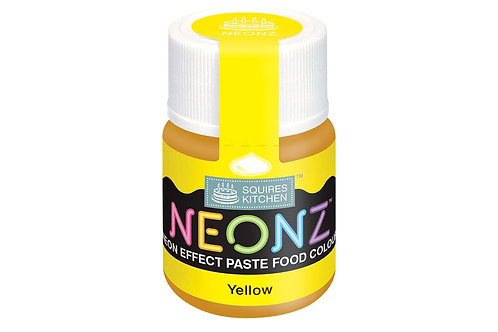 Squires Kitchen NEONZ Paste Food Colour Yellow 20g