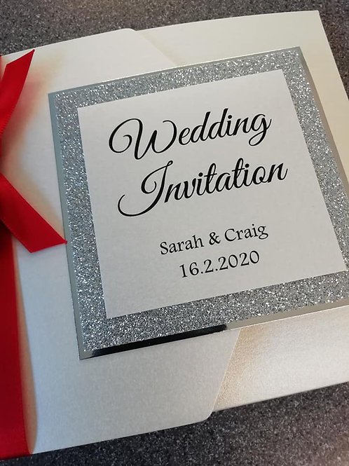 Dazzle Wedding Invitation - Set of 5