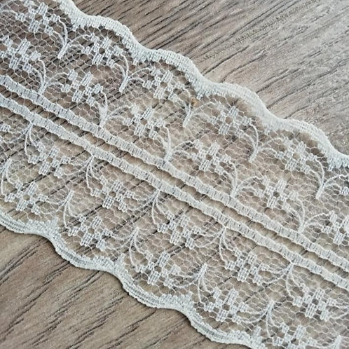 Ivory /Cream Double Sided Lace - 40mm x 1M