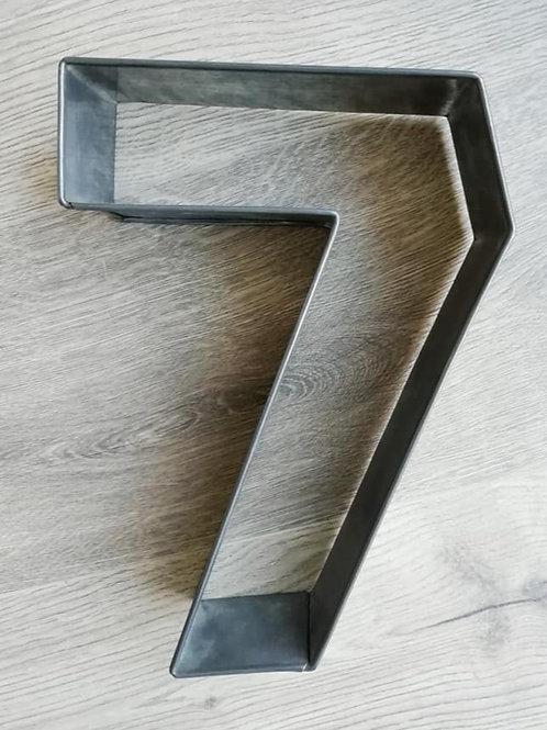 Number 7 Cake frame, Tin - Ex Hire