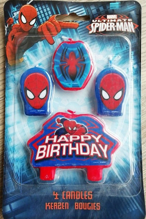 Spiderman Birthday Cake Candles