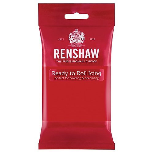 Poppy Red Ready To Roll Icing, Fondant - Renshaw 250gms - BB April 22
