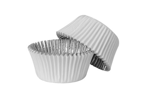 White Foil Baking Cases -PME 30 Lined