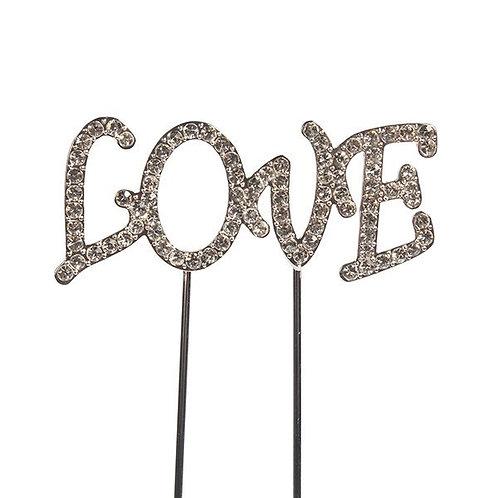 """Love""  Diamante  Cake Topper - Cake Star"