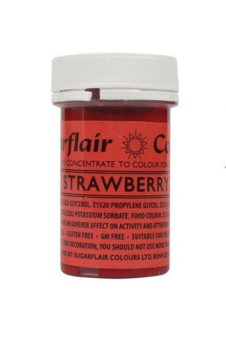 Sugarflair Spectral Food Colouring Paste - Strawberry - 25g