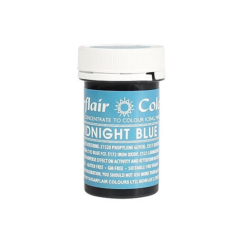 Sugarflair Spectral Food Colouring Paste - Midnight Blue - 25g