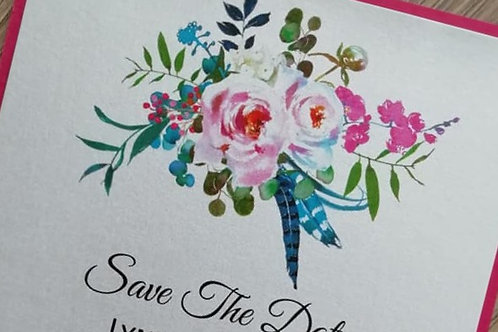 Save The Date Card - SAVE26042105 - Minimum Order 10 cards