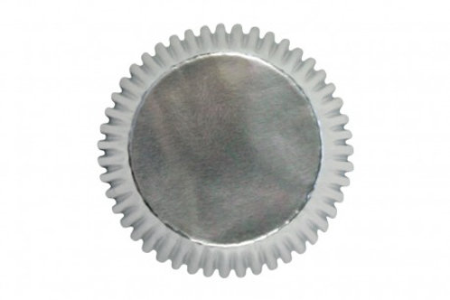 PME Mini Foil Baking Cases - Foil Silver - 45 Cases