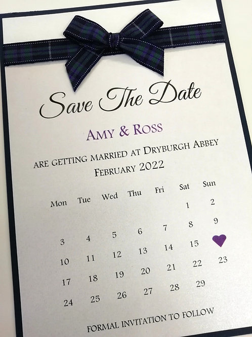 Save The Date - SAVE26042103  - Minimum Order 10 Cards