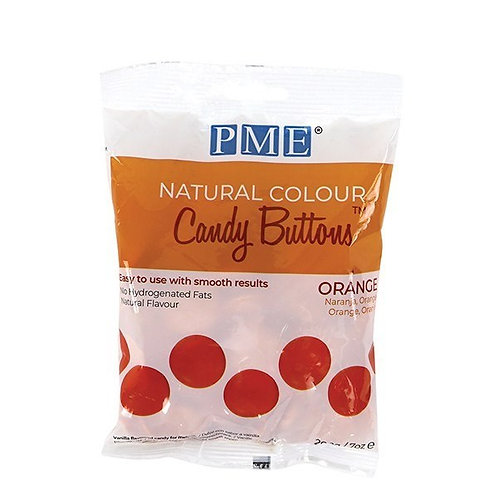 PME Natural Colour Candy Buttons - Orange - 200g - BB 25.12.21