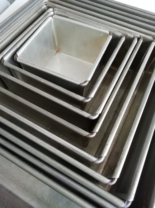 Square Cake Tins - EXHIRE Invicta Tins - Sold as seen
