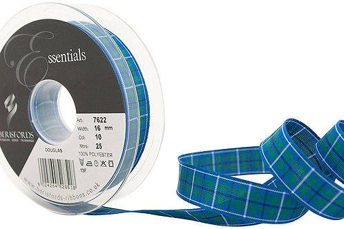40mm Douglas Tartan Ribbon