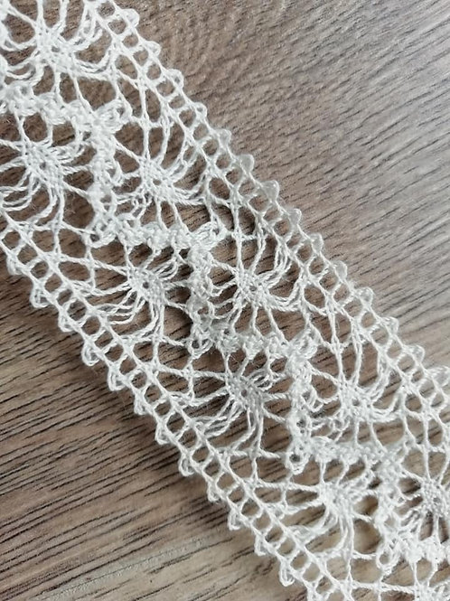 "Ivory / Cream  1.5""Crochet Cotton Lace - 1 Meter"