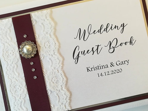 Lace & Pearl Guestbook