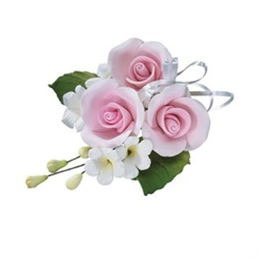 Coming Soon - Pink Sugar Rose Spray Trio - 4""