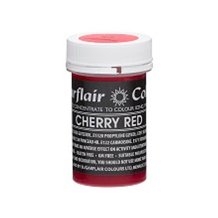 Cherry Red, Food Colouring Paste, Sugarflair Pastel Paste 25g