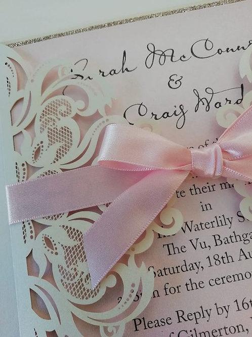 """Lynsay"" Wedding Invitation - Set of 5 Cards"