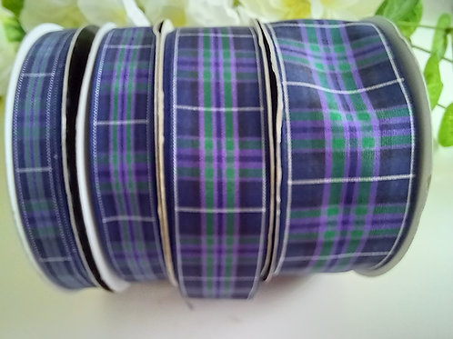 HIGHLAND Pride of Scotland Tartan Ribbon - 10mm, 16mm, 25mm, 37mm