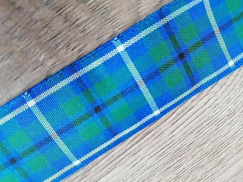 Douglas Tartan Ribbon, 1 meter x 25mm, Berisfords