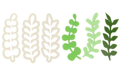 Eucalyptus Leaf/ Wreath Cutters - Set of 3 - PME