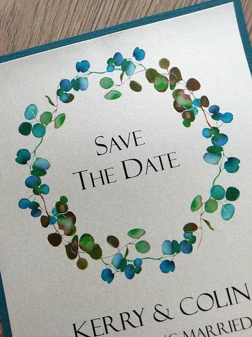 Eucalyptus Save The Date Card  - SAVE26042106 - Minimum Order 10 Cards