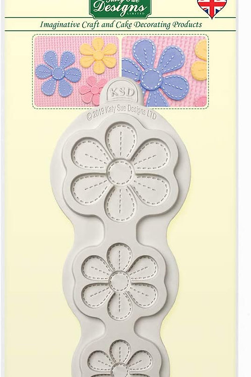 Katy Sue Designs - Stitched Blossoms Silicone Mould