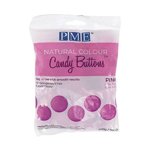 PME Natural Colour Candy Buttons - Pink - 200g - BB  25.3.22